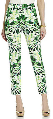 Vince Camuto Tropic Printed Ankle Pants