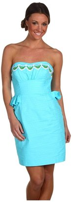 Lilly Pulitzer Maybell Dress (Shorely Blue Pinwheel) - Apparel