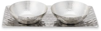 Williams-Sonoma Hammered Silver Salt & Pepper Bowls with Tray