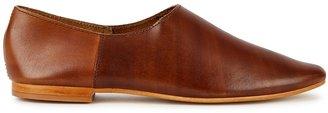 ST. AGNI Julien Brown Leather Flats