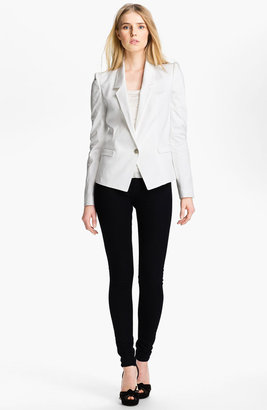 Just Cavalli Leopard Lined Cotton Blazer 10 US / 46 IT