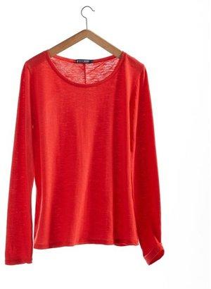 Petit Bateau Women's long-sleeved, round neck tee in plain jersey stockinette