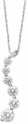 Arabella 14k White Gold Necklace, Swarovski Zirconia Journey Pendant (4-5/8 ct. t.w.)