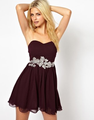 AX Paris Bandeau Prom Dress With Embellishment