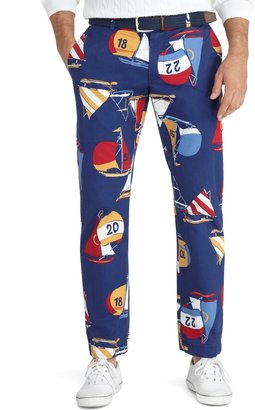 Brooks Brothers Milano Fit Sailboat Print Pants