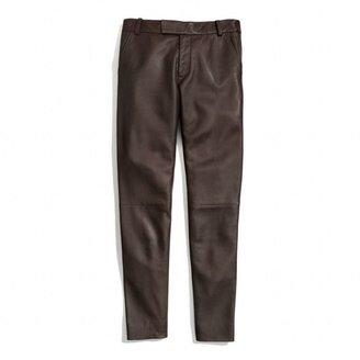 Coach Leather Cigarette Trouser