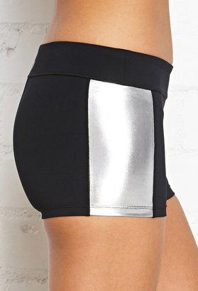 Forever 21 Active Metallic Paneled Training Shorts