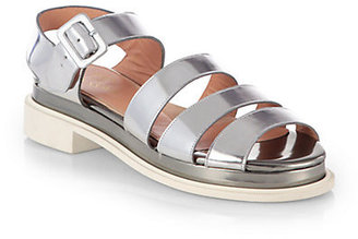 Robert Clergerie Corson Metallic Leather Sandals