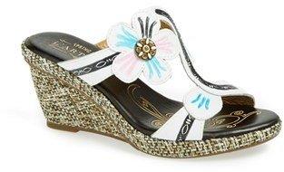 Spring Step 'Largo' Leather Wedge Sandal