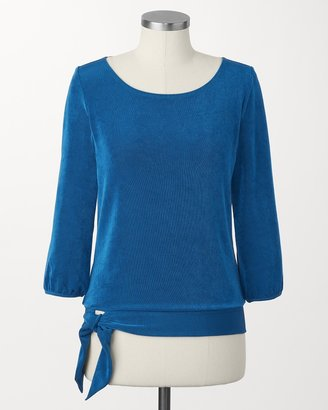 Coldwater Creek Travel knit side-tie top