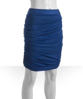 Rag and Bone Rag & Bone blue ruched jersey 'Aura' skirt