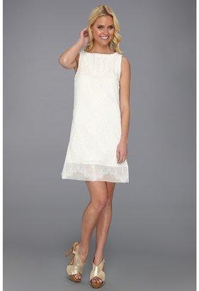 Nicole Miller Open Crochet Lace Dress Women's Dress