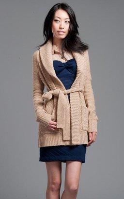 Tracy Reese Plenty Oatmeal Shawl Sweater Coat