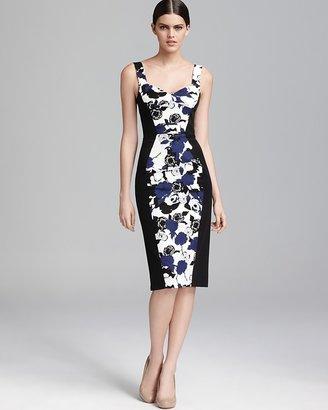 Black Halo Printed Dress - Sadie Color Block