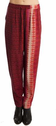 Charlotte Ronson Printed Drawstring Pants