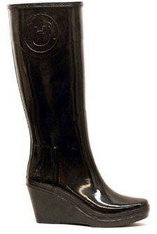 "Hunter Champery"" Black Wedge Boot"
