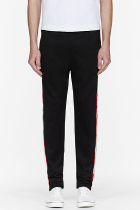 McQ Black and red racing stripe track pants