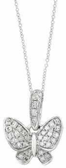 Effy 14K White Gold Pendant Necklace with 0.11 TCW Diamonds