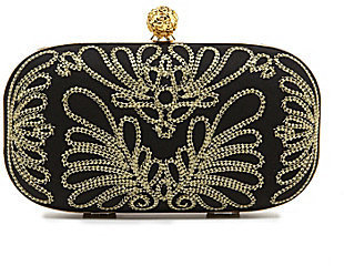 Kate Landry Social Embroidered Frame Clutch