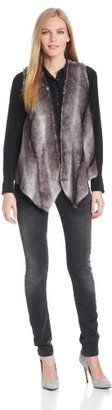 Twelfth St. By Cynthia Vincent by Cynthia Vincent Women's Jersey Lined Faux Fur Vest