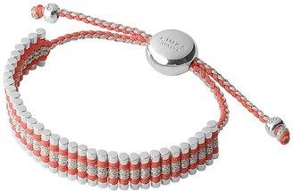 Links of London Coral & Grey Glitter Friendship Bracelet