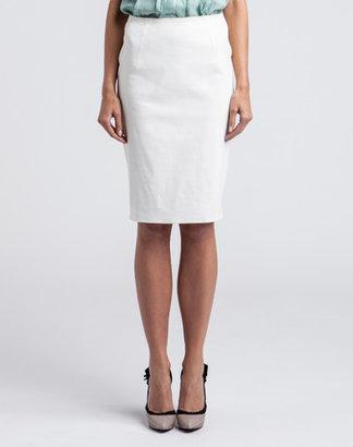 Lanvin White Straight Skirt