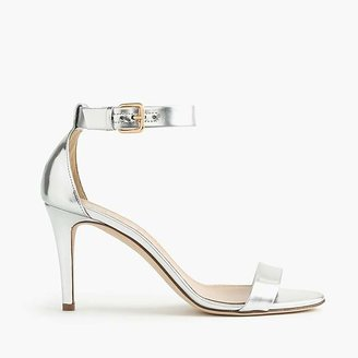 Mirror metallic high-heel sandals $198 thestylecure.com