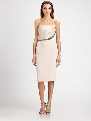 Notte by Marchesa Strapless Silk Dress