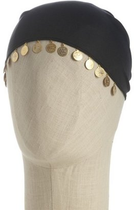 Dolce & Gabbana black coin embellished head scarf