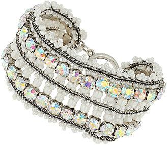 Topshop Premium Bead Rhinestone Bracelet