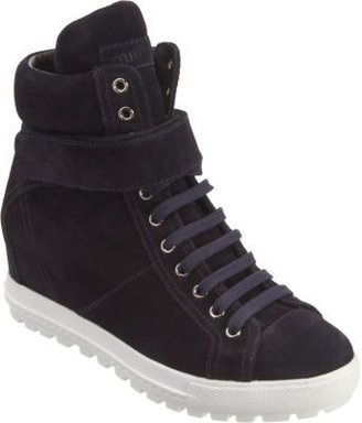 Miu Miu Side Zip Hidden Wedge Sneaker