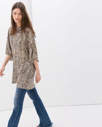 Zara Animal Print Tunic
