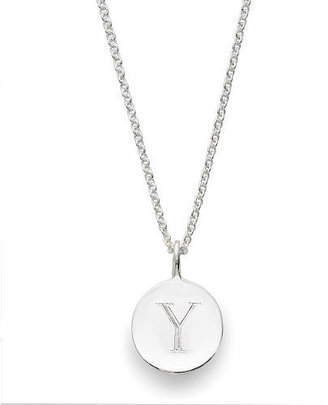 Sarah Chloe Sterling Silver Engraved Y on 16 inch Cable Chain