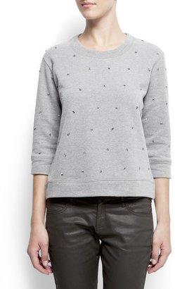 MANGO Sequined sweatshirt