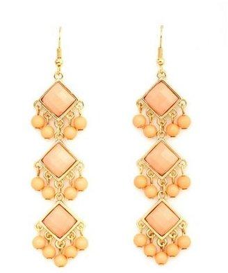 Charlotte Russe Triple Triangle Dangle Earrings