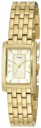 Timex Women's T2N050 Gold-Tone Fashion Rectangle Dress Watch $119.95 thestylecure.com