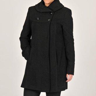 Larry Levine Black Stone Shawl Collar Plush Wool Coat $79.99 thestylecure.com