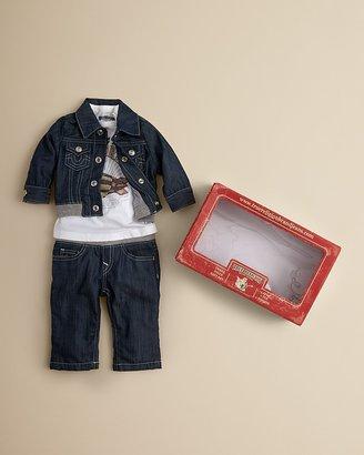 True Religion Infant Boys' Tee, Jean & Denim Jacket Set - Sizes 6-18 Months