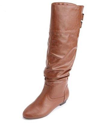 Charlotte Russe Double Buckle Mini Heel Boot