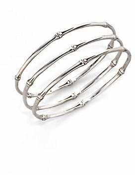 John Hardy Women's Bamboo Sterling Silver Slim Bangle Bracelet Set