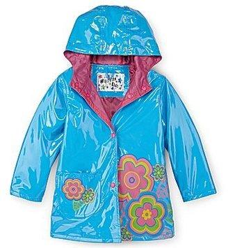 JCPenney Blue Flower Raincoat - Girls 2t-4t