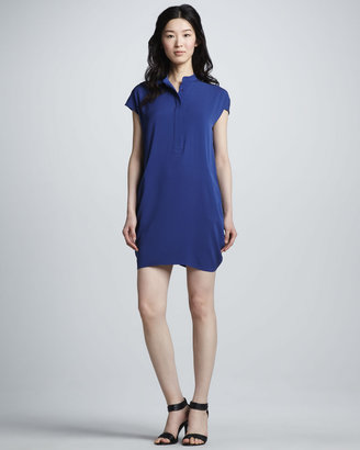 Vince Half-Placket Dress