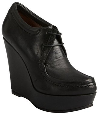 Ritch Erani NYFC black leather wedge booties