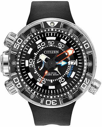 Citizen Eco-Drive Promaster Aqualand Mens Black Silicone Dive Watch BN2029-01E