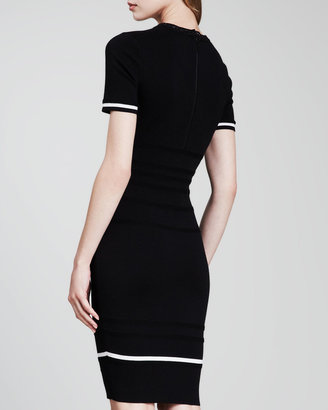 Escada Short-Sleeve Knit Dress, Black