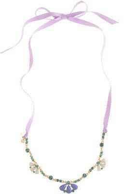 J.Crew Girls' jeweled ribbon necklace