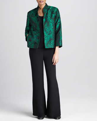 Caroline Rose Leaf-Jacquard Jacket, Women's