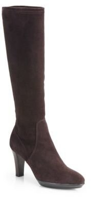 Aquatalia by Marvin K Rhumba Suede Knee-High Platform Boots