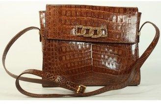 Neiman Marcus excellent (EX Brown Crocodile Vintage Shoulder Bag