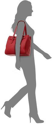 Tommy Hilfiger Handbag, Heritage Flag Tag Medium Saffiano Leather Tote